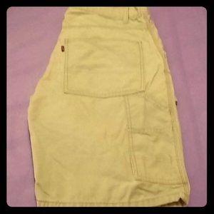 Mens Levi's Tan Shorts Size 33